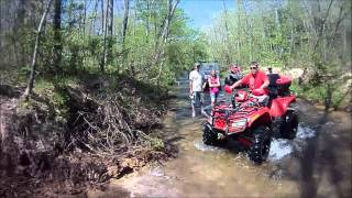 Sandtown Ranch 2012 Spring ATV Rally: Creek Bank Climb ~ Some Can, Some Can