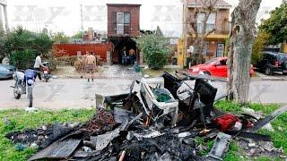 Villa Elvira: colocaban una membrana y se les prendió fuego la casa