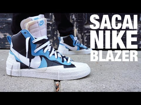 Mercado Porque convertible  SACAI Nike Blazer Review & On Feet - YouTube