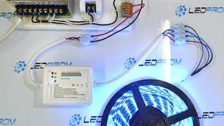 Как подключить выключатель , люстру и светодиодную ленту  .2.