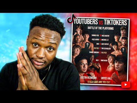 Reacting To TikTokers VS YouTubers BOXING EVENT! - VIDDAL
