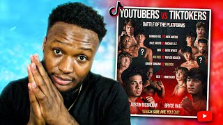 Reacting To TikTokers VS YouTubers BOXING EVENT!