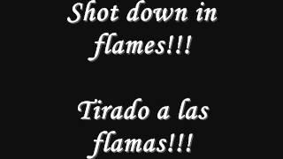 acdc shot down in flames lyrics y subtitulos