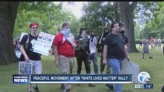 Peaceful movement after White Lives Matter rally