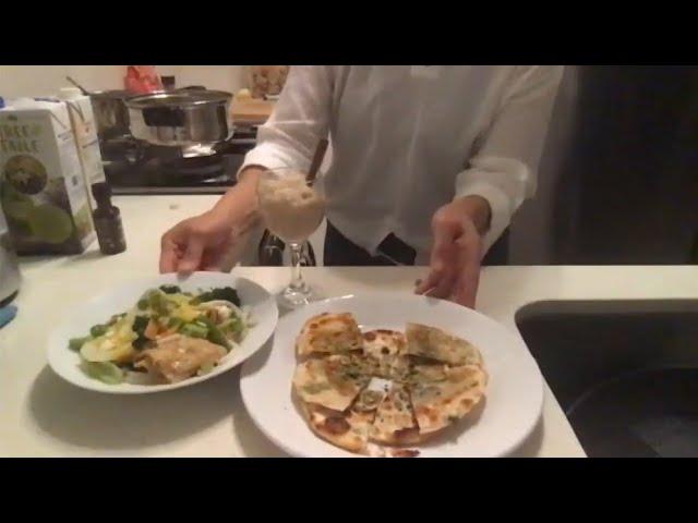 Recipe Club - Simple Shallot Pancake / Miso Vegetable Udon Noodle Soup / Vegan Rice Pudding