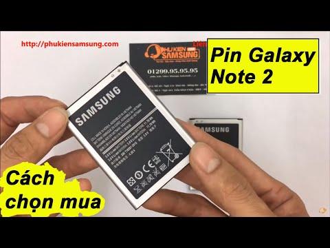 Cách chọn mua Pin Galaxy Note 2 chính hãng Samsung