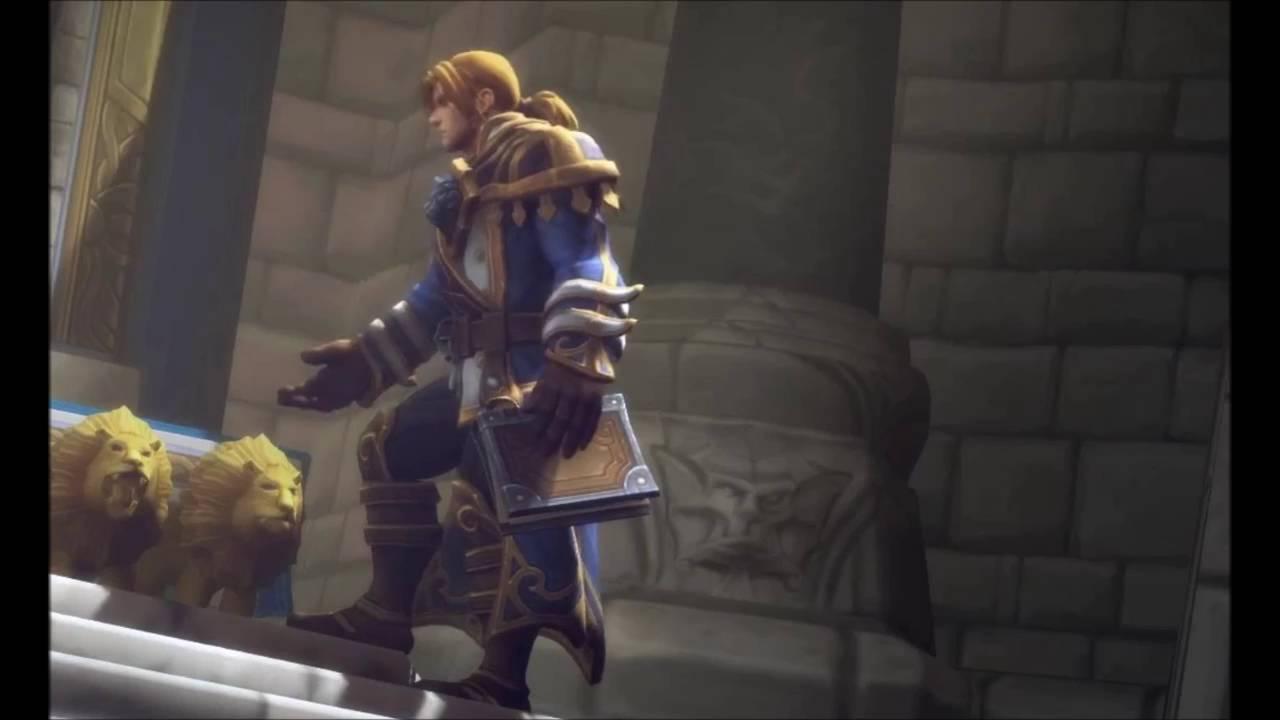 V Letter 3d Wallpaper World Of Warcraft Legion Anduin Music Theme Youtube
