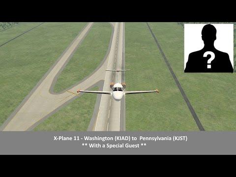 X-Plane 11 - Washington (KIAD) to  Pennsylvania (KJST)