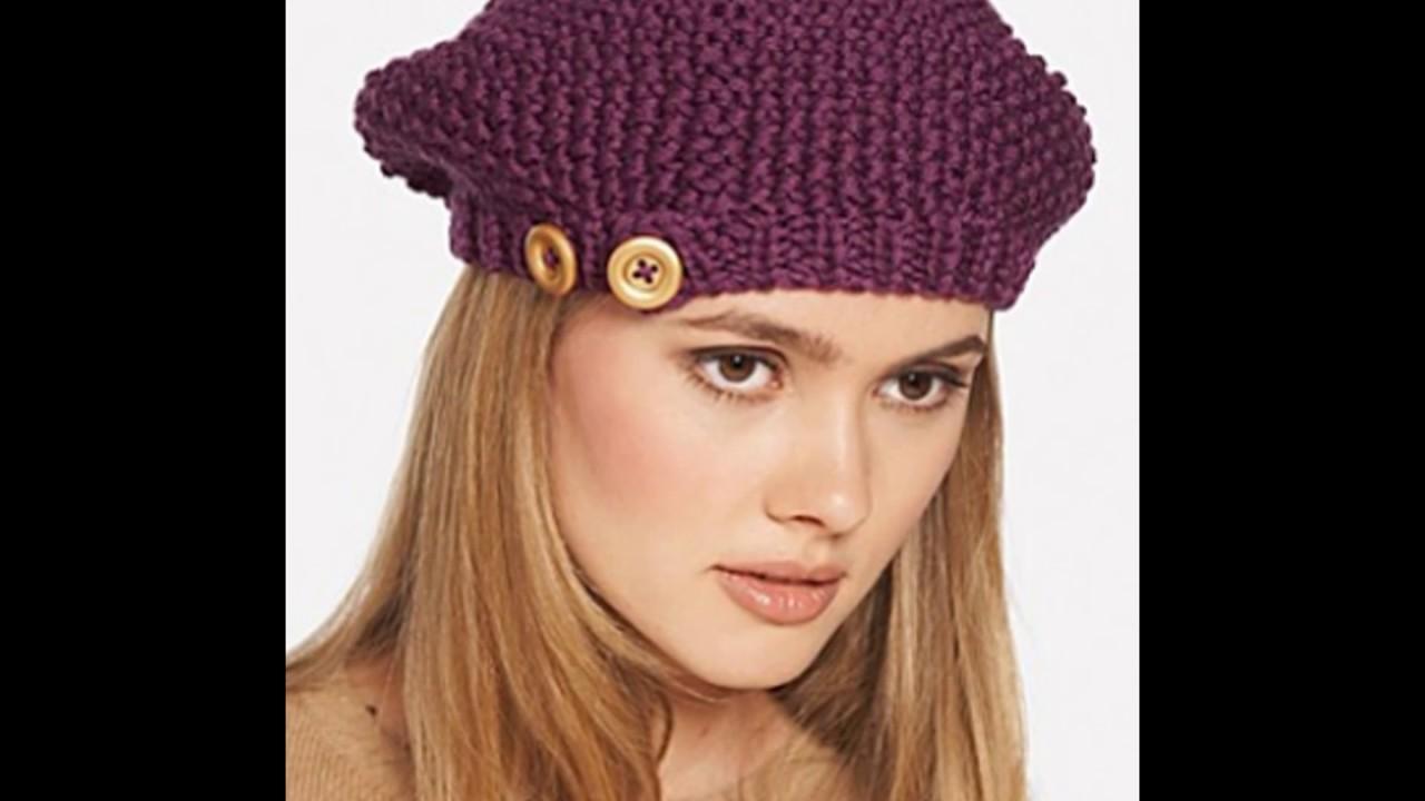 a3b7d3d424368 Boinas Tejidas en Crochet y Dos Agujas - YouTube