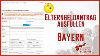 Elterngeldantrag ausfüllen - Bayern