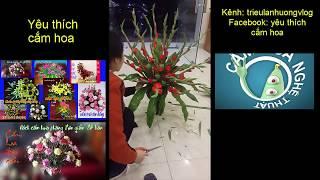 Cách cắm hoa lay ơn đỏ đơn giản ít hoa