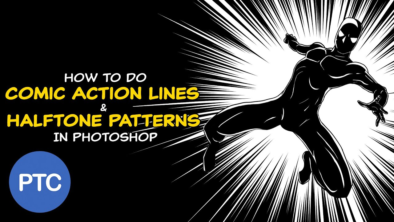 How To Create Comic Action Lines And Halftone Patterns In