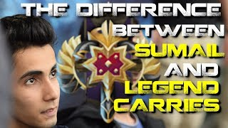 The difference between Sumail and legend carries