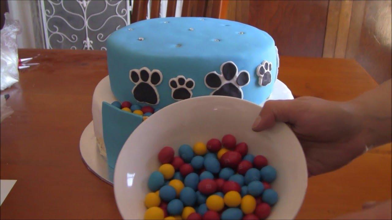 Paw Patrol Fondant Puppy Print Birthday Cake Decoration