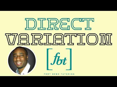 Direct Variation - How to Solve Variation Problems: Part 1 [