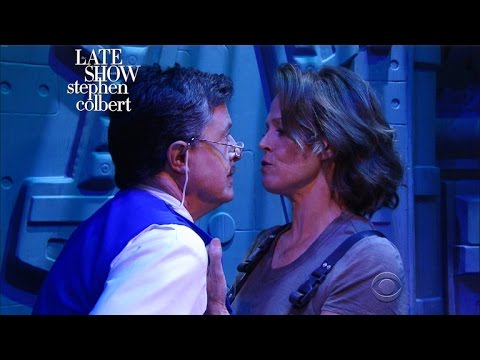 Exclusive 'Alien'  With Sigourney Weaver And Stephen Colbert
