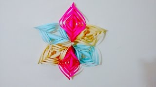 Wall Decor - How To Create Beautiful 3d Wall Decor Snowflake Design By Paper