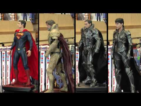 Man of Steel Superman, Jor-El, General Zod and Faora 1/6 Scale Iconic Statue Unboxing