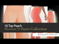 10 Top Peach Women'S Pants Collection Spring 2017 Collection