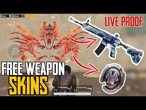 New Trick To Get FREE Weapon Skins & Silver Fragments   PUBG MOBILE   100% Working