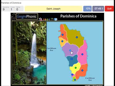 Parishes of Dominica | geography game | before hurricane Maria - YouTube