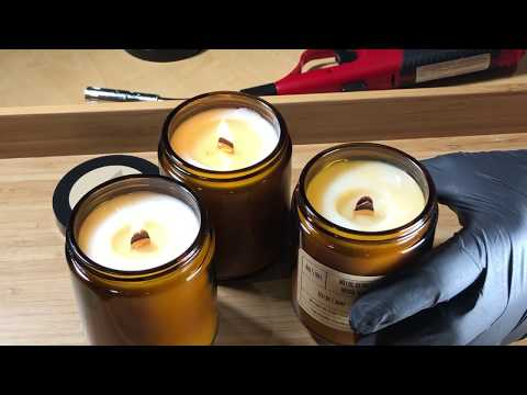 Crash test for woodwick candle