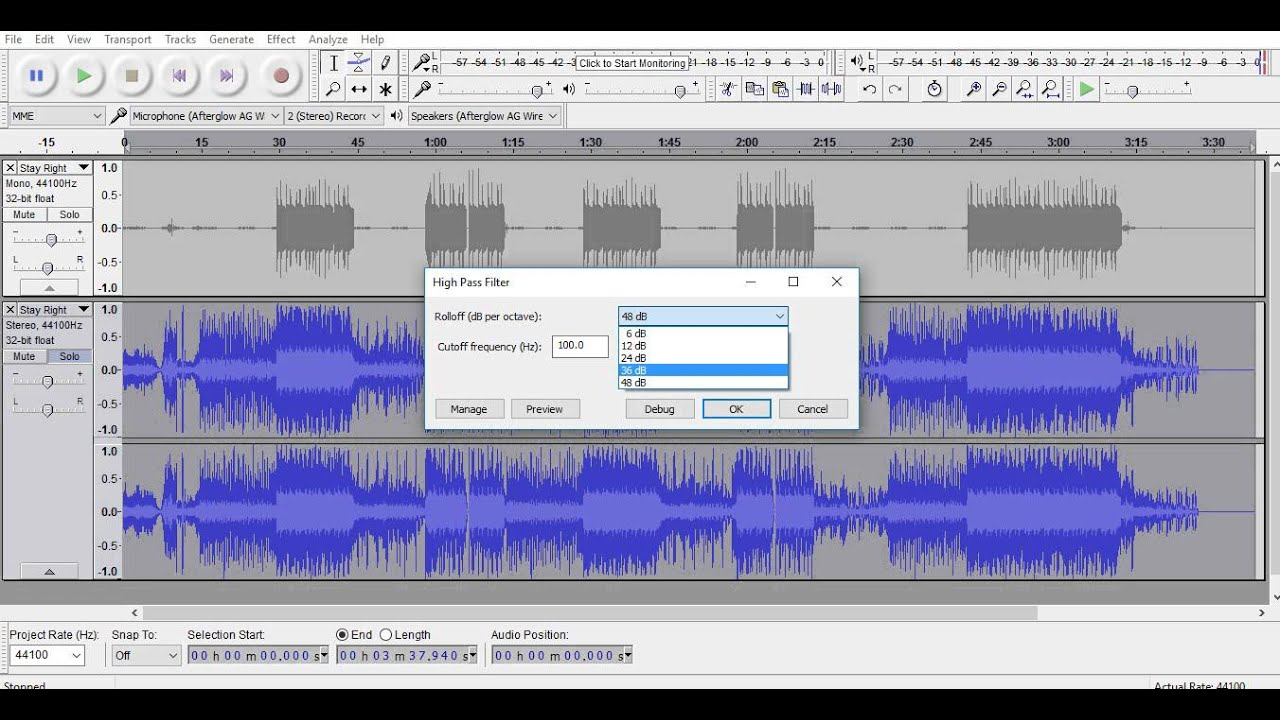 How To Bass Boost With Audacity - YouTube