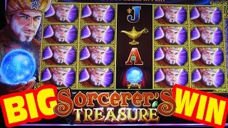 NEW SLOT!! BIG WIN!! - Sorcerer's Treasure - Slot Machine Bonus