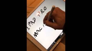 Teste do Apple Pencil no iPad Air 2