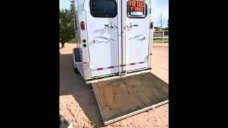 2001 Sundowner Trail Blazer II Horse Trailer Gooseneck III Horse Slant With Loading Rant Chandler,AZ