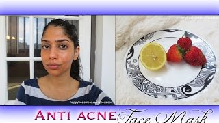 Acne Free Skin! Homemade Strawberry & Honey Face Mask For Clear, Bright Skin!