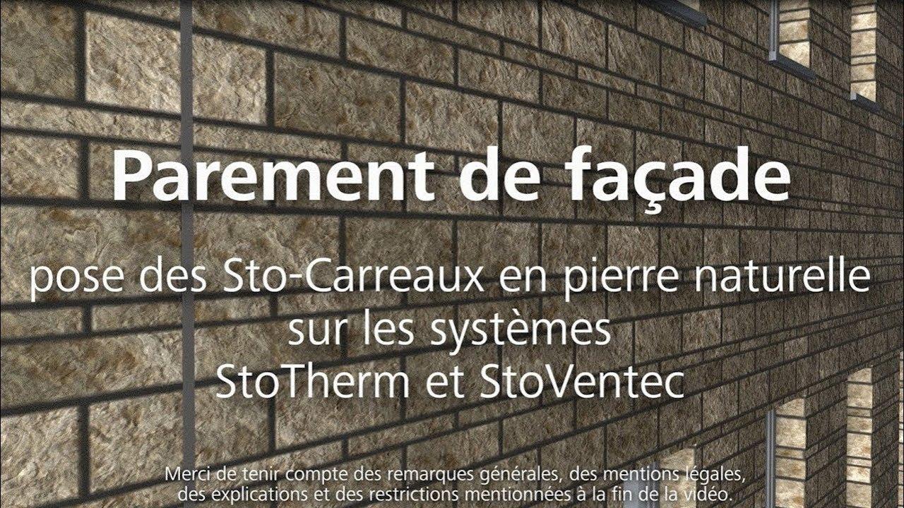 Pierre De Parement En Granit parement de façade, pose des sto-carreaux en pierre naturelle