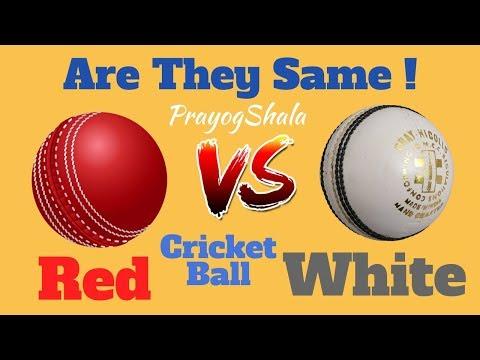 Red VS White Cricket Ball | Which one is Better? PrayogShala | Hindi