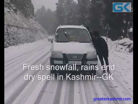 Fresh snowfall, rains end dry spell in Kashmir