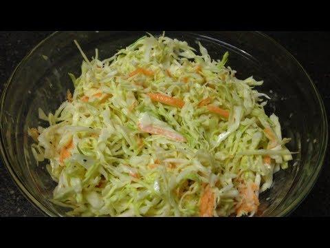 Ensalada de col estilo americano receta youtube for Como preparar repollo