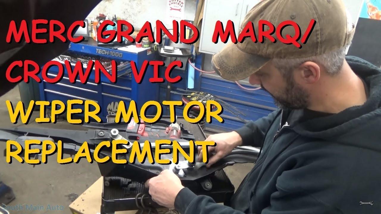 Grand Marquis Crown Victoria Wiper Motor Remove Replace