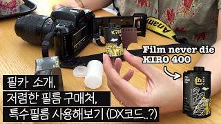 필름 카메라에 특수 필름을 사용해봤어요! (저렴한 필름…