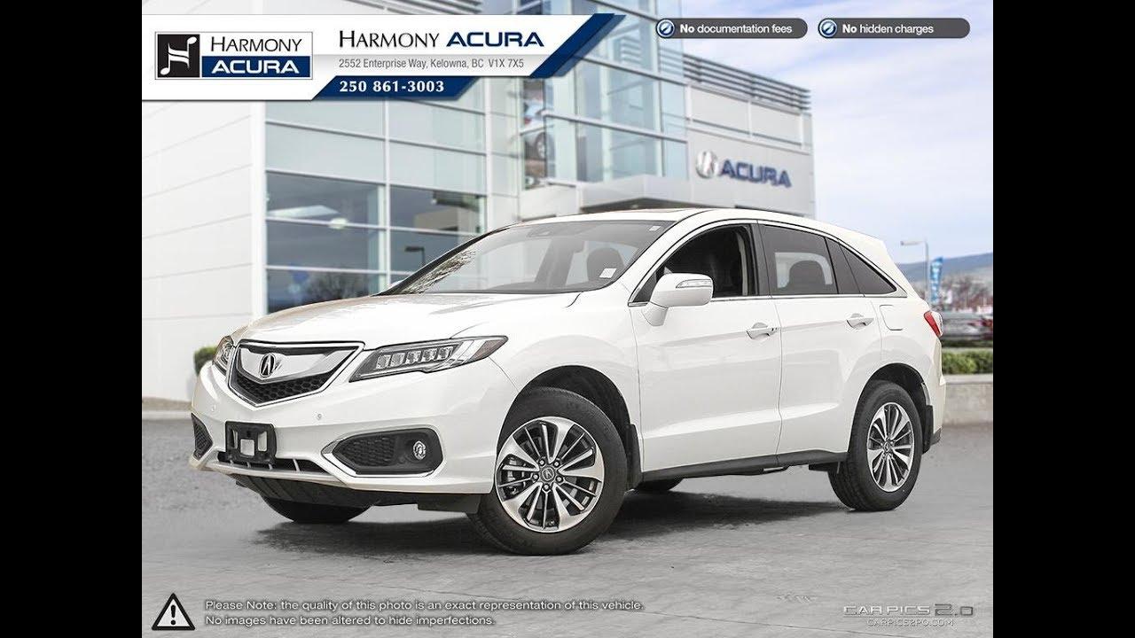 Acura RDX Elite Harmony Acura White AU Kelowna - Harmony acura