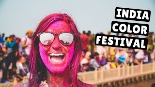 CELEBRATING HOLI   India's Incredible Color Festival   Vrindavan, India 2018