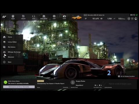 Gran Turimo Sport Live Stream ps4 pro 4k