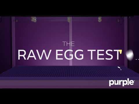 The Purple Mattress Passes The Raw Egg Test