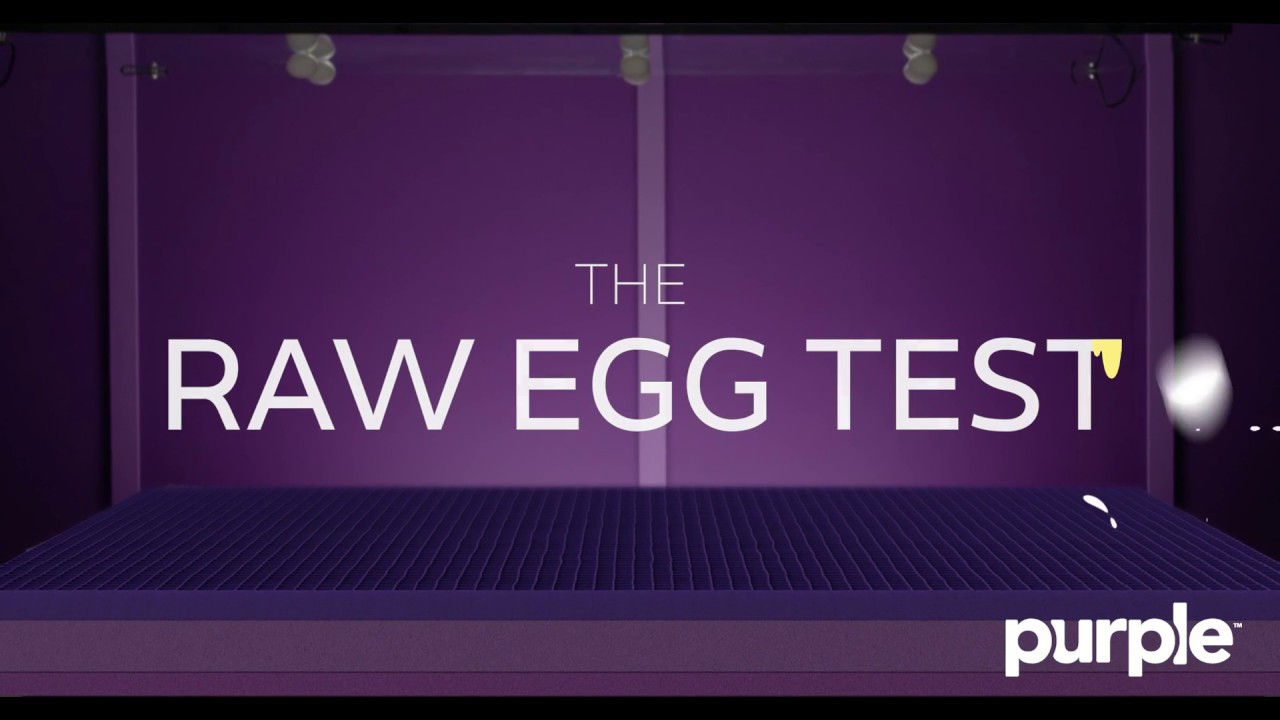 the purple mattress passes the raw egg test youtube. Black Bedroom Furniture Sets. Home Design Ideas