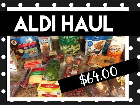 Aldi Haul  Groceries on a Budget  Feeding a Family On 400 a month