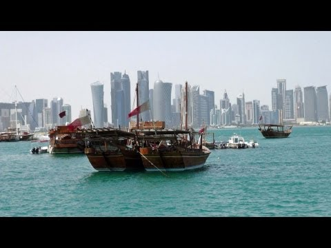 Doha / Qatar - top views around CBD district in HD