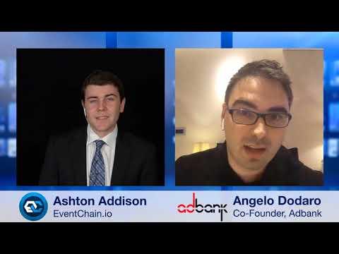 Blockchain Interviews - Adbank network CMO Angelo Dodaro