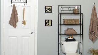 Mainstays 3 Shelf Bathroom Space Saver Oil Rubbed Bronze Youtube