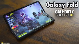 Call of Duty Mobile on the Galaxy Fold 😲!!!
