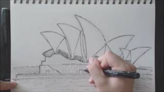 Drawing the Sydney Opera House #Timelapse