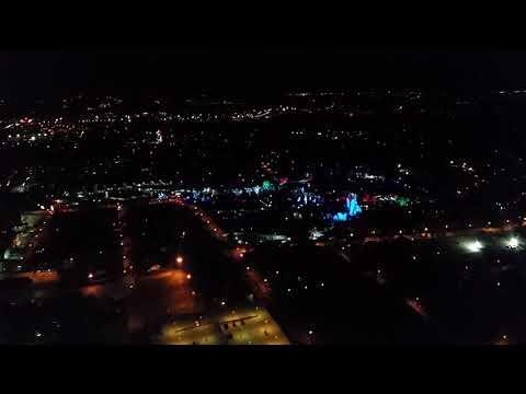 Cincinnati Zoo Festival of Lights aerial view 1