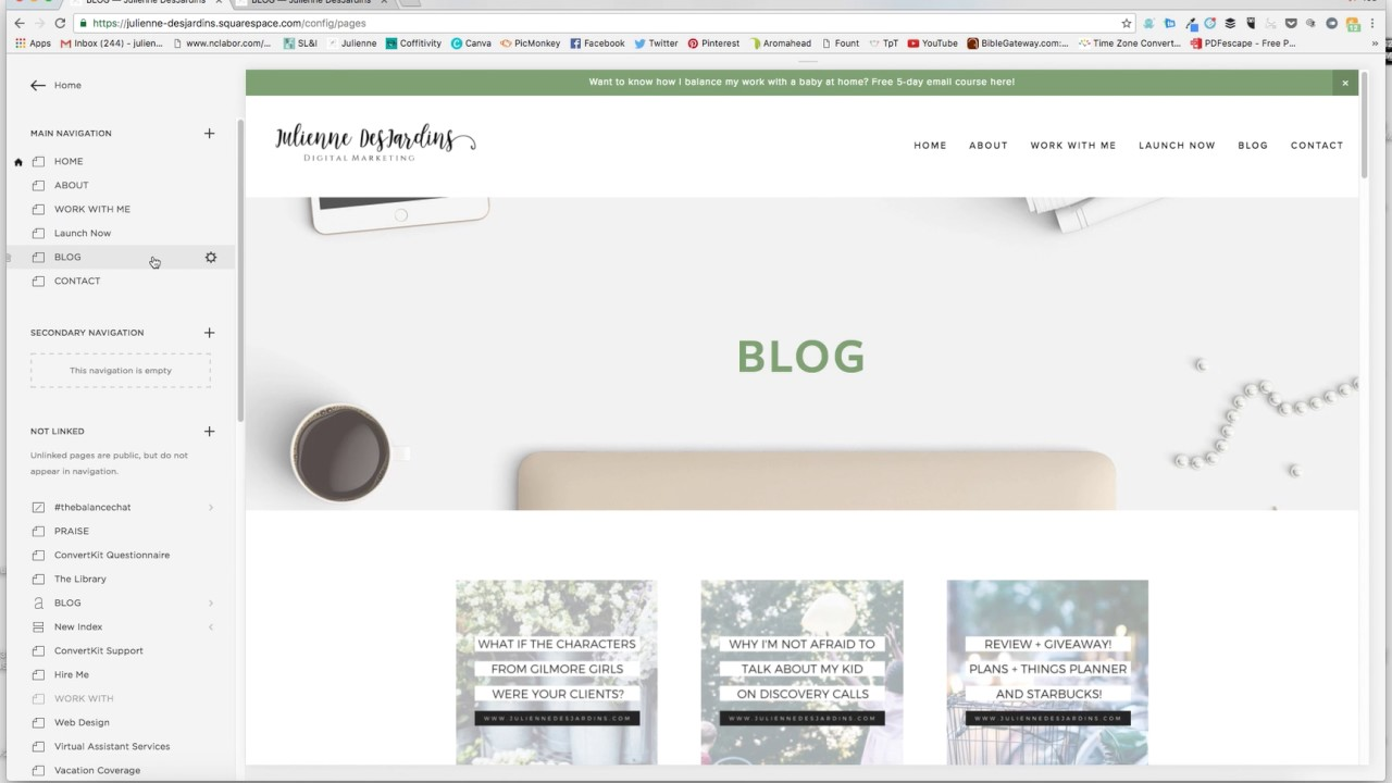 how to customize the blog feed on the bedford template in